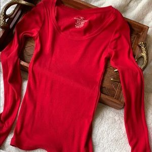 Faded Glory Quality Red Long Sleeve Shirt Top XS